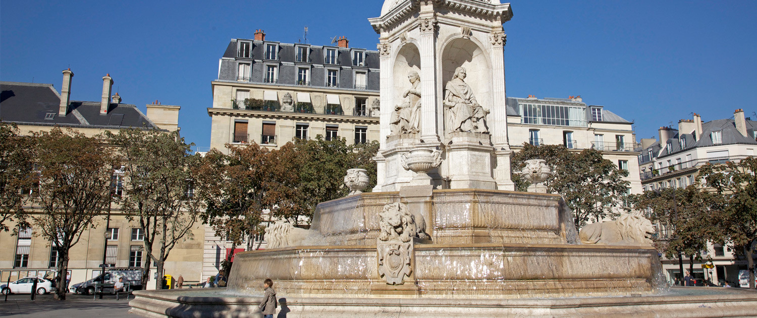 Fontaine Saint-Sulpice, Paris by Jean-Marie Hullot