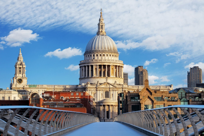St. Paul's Cathedral & Millennium Bridge