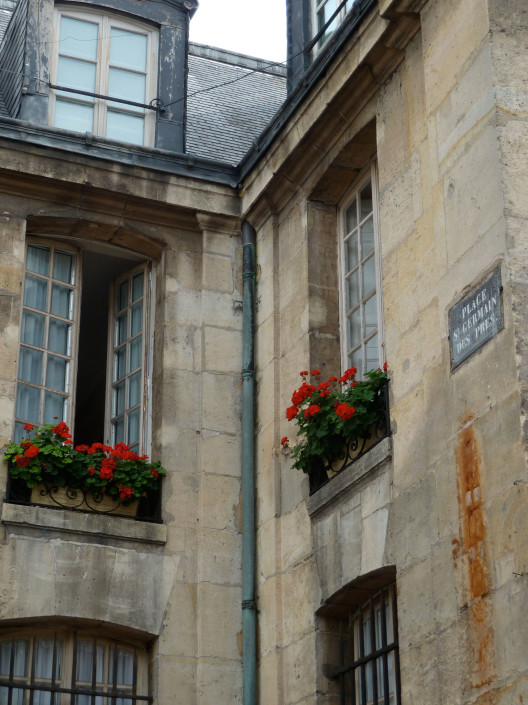Flowerboxes – Place St. Germain, Paris